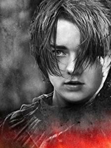 Фото Игра престолов (телесериал) Мэйси Уильямс Вблизи Лица Arya Stark кино Знаменитости Девушки