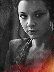 Картинка Игра престолов (телесериал) Натали Дормер Вблизи Лица Margery Tyrell кино Знаменитости Девушки
