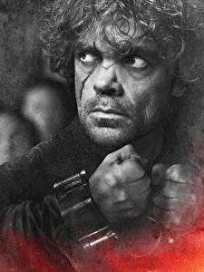 Фотография Игра престолов (телесериал) Питер Динклэйдж Мужчины Крупным планом Лицо Смотрит Tyrion Lannister кино Знаменитости