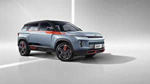 Фотография Geely Серый фон CUV Серый 2021 Icon Love Автомобили