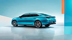 Картинка Geely Металлик Сбоку Китайские Голубые Preface, 2020 автомобиль