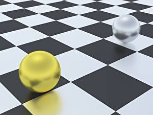 Фото Геометрия Шар Вдвоем 3D Графика