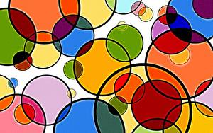 Картинки Геометрия Текстура Круги Разноцветные