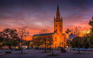 Фото Германия Берлин Храм Рассветы и закаты Церковь Sankt Matthäus Kirche Города