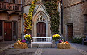 Фото Германия Замки Дверь Дизайна Скамья Hohenzollern castle