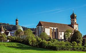 Картинки Германия Церковь Бавария Church of St. Peter and Paul, Oberammergau Города