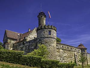 Фото Германия Крепость Кустов Altenburg Bamberg Города