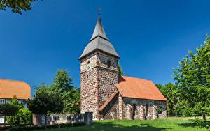 Картинки Германия Дома Башни Ehringen Города