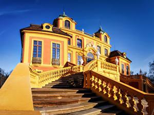 Картинка Германия Здания Дворец Лестницы Дизайна Ludwigsburg