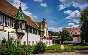 Картинки Германия Здания Храм Монастырь Blaubeuren Monastery