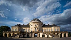 Картинки Германия Дома Вилла Облачно Stuttgart