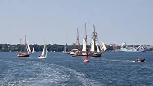 Картинка Германия Корабли Парусные Baltic sea, Mecklenburg Города