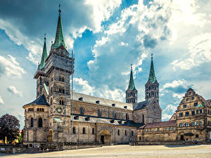 Фотографии Германия Храмы Церковь Городской площади Bamberg