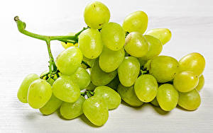 Картинки Виноград Вблизи Зеленый Еда