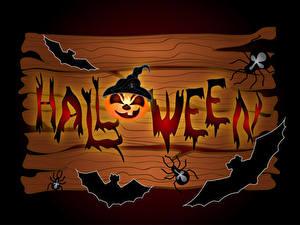 Картинки Хэллоуин Тыква Птица Пауки Доски Инглийские Слова