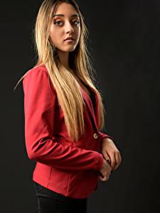 Фото Рука Волосы Смотрит Блондинок Charlene, пиджак молодые женщины