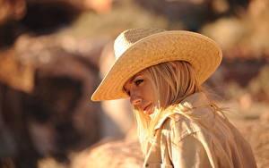 Фото Hayley Marie Coppin Боке Блондинки Шляпы