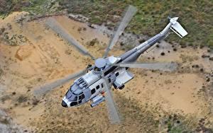 Обои Вертолет Летят Сверху Airbus Helicopters H225M Авиация