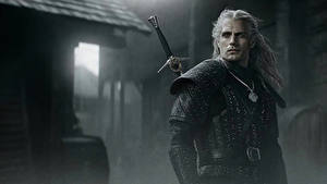 Фотография Генри Кавилл Мужчина Геральт из Ривии Меч Броня The Witcher кино Знаменитости