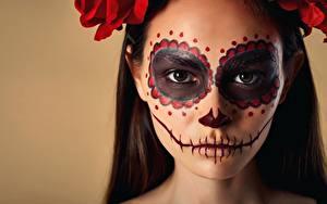 Фотографии Праздники Лица Мейкап Day of the Dead, Nikita Orlov, Marina Marsalova девушка