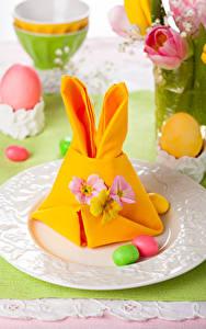 Фото Праздники Пасха Яйца Тарелка Дизайн