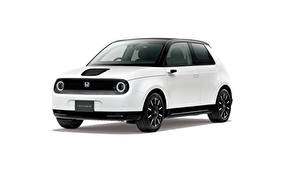 Картинки Хонда Белая Металлик Белым фоном e, JP-spec, 2020 авто