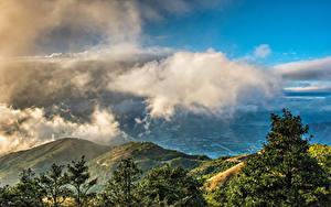 Фотография Гонконг Китай Гора Облачно Природа