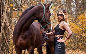 Фотографии Лошади молодые женщины