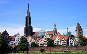 Обои Здания Собор Германия Башни Ulm Cathedral, Ulm, Baden-Württemberg город