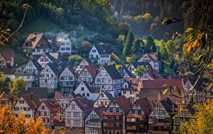 Фото Здания Германия Село Schiltach, Baden-Württemberg