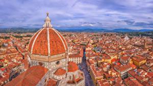 Обои Здания Италия Флоренция Купол Сверху La Cattedrale di Santa Maria del Fiore Города