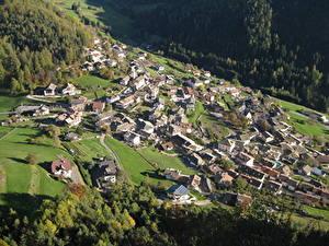 Фотографии Дома Италия Деревня Сверху Village Of Selva, South Tyrol, Val Gardena Города