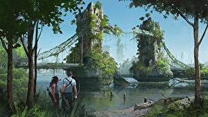 Картинка Иллюстрации к книгам Мост Англия Лондон Две Dies the Fire, S.M. Stirling Фантастика