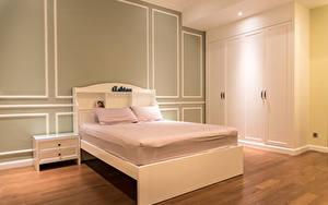 Обои для рабочего стола Интерьер Кровати Комната Спальни Подушка Дизайна