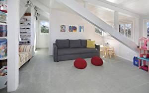 Фото Интерьер Детская комната Дизайн Диване
