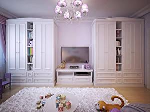 Фотографии Интерьер Детская комната Игрушки Дизайн Ковер Люстра