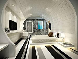 Фотографии Интерьер Дизайн Спальня Кровать 3D Графика