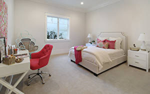 Картинки Интерьер Дизайн Спальня Кровать Кресло