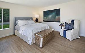 Картинки Интерьер Дизайна Спальне Кровать Кресло Подушки