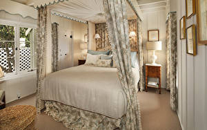 Фотография Интерьер Дизайн Спальня Кровать Лампа