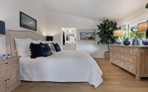 Фотография Интерьер Дизайна Спальне Кровать Подушка