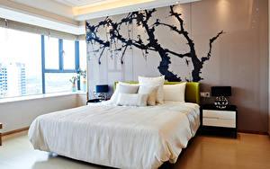 Фотография Интерьер Дизайн Спальня Кровать Подушка
