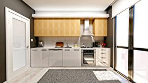 Фотографии Интерьер Дизайн Кухня 3D Графика