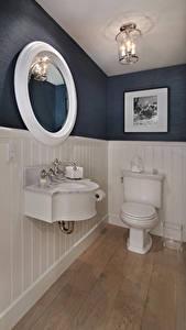 Обои для рабочего стола Интерьер Дизайна Туалета