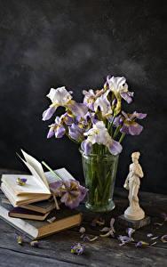 Фото Ирис Доски Вазе Книги Лепестков цветок