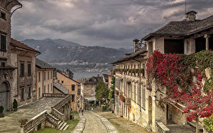 Фотография Италия Дома Улица Orta San Giulio
