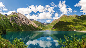 Фото Италия Озеро Горы Lake Morasco, Piemonte Природа