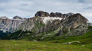 Картинка Италия Гора Альп Dolomites, Pordoi Pass Природа