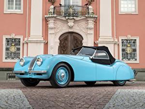 Фотография Jaguar Ретро Голубой Металлик Родстер 1948-50 XK120 Alloy Roadster