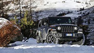 Фото Jeep Внедорожник Черный 2018-19 Wrangler Unlimited Rubicon Машины